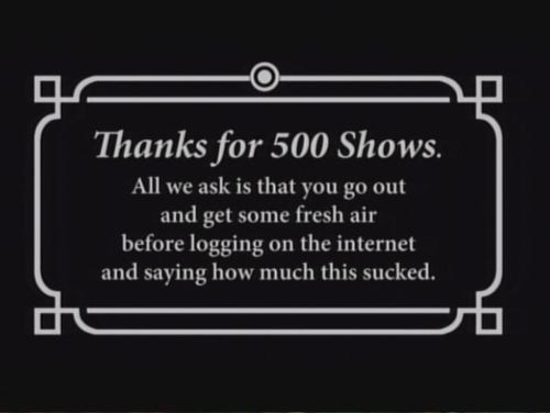 Simpsons 500th Episode Message of the Day