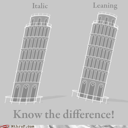 The Italic Tower of Pisa Doesn't Sound As Good