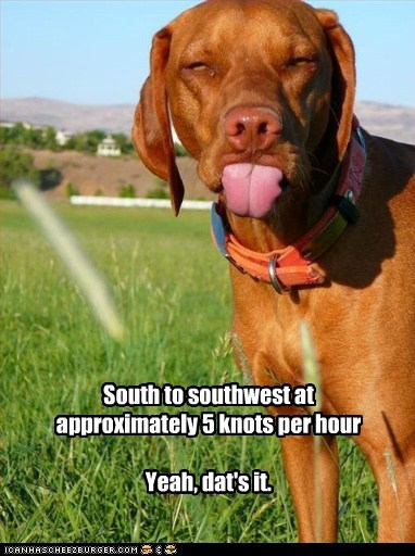 South to southwest
