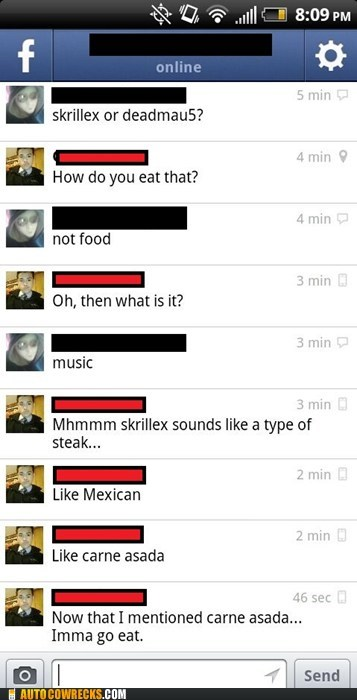 Skrillex ≠ Food