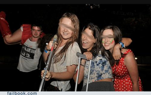 Caveman,crutches,party favor,woo girls