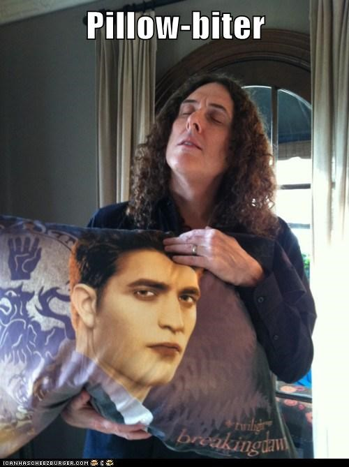 celeb,funny,robert pattinson,twilight,Weird Al Yankovic