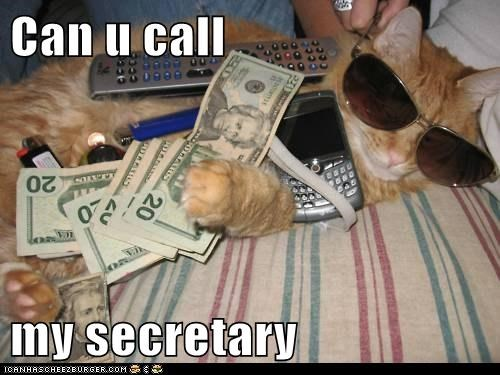 Can u call   my secretary