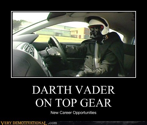 DARTH VADER ON TOP GEAR