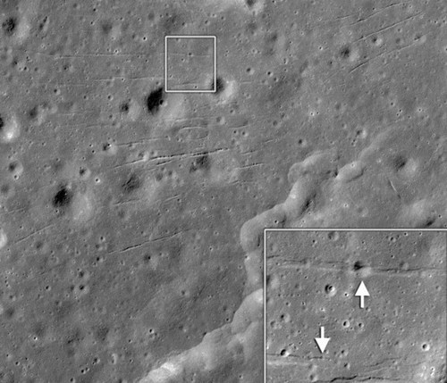 Tectonic Activity on the Moon of the Day