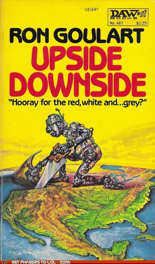 WTF Sci-Fi Book Covers: Upside Downside