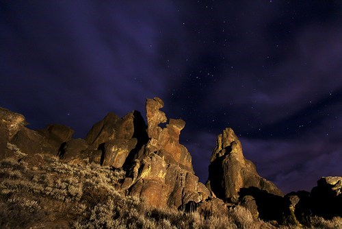 Reaching for the Stars, Little City of Rocks near Gooding, Idaho