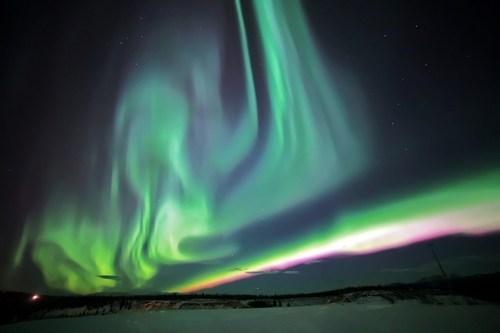 Aurora over Whitehorse, Yukon, Canada