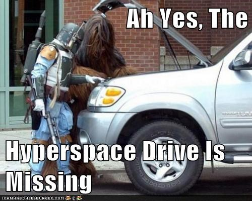 Ah Yes, The  Hyperspace Drive Is Missing