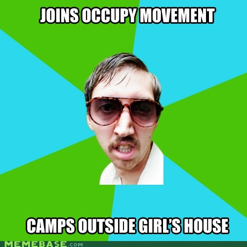 Creeper Carl joins Occupy.