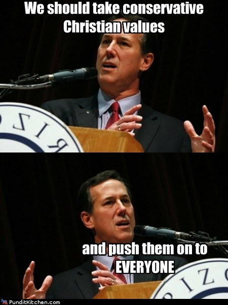 Push it Somewhere Else, Santorum