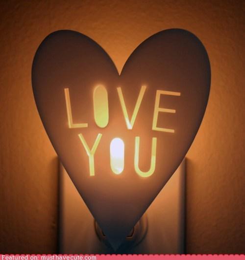 heart,love you,nightlight,soothing,sweet