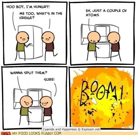 atoms,bomb,comic,explosion,fridge,split