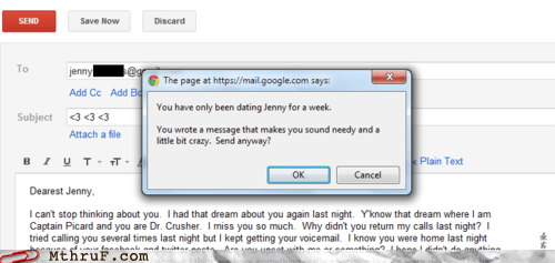 "Gmail's New ""Too Clingy"" Extension"
