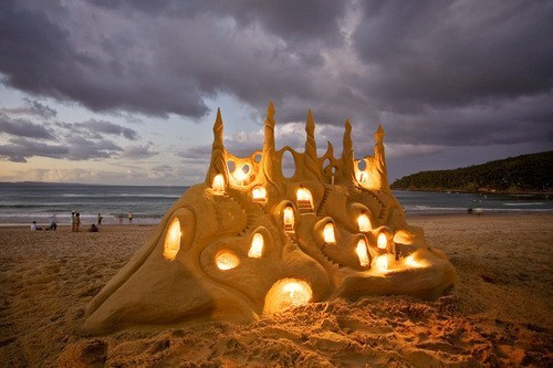 Glowing Sandcastle