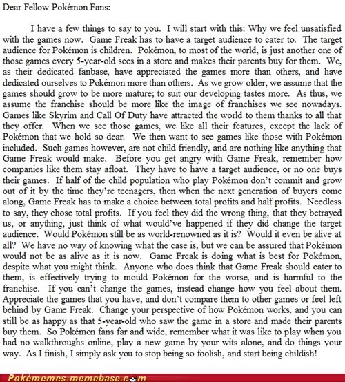 IRL,pokemon fans,tldr,video games,wall of text