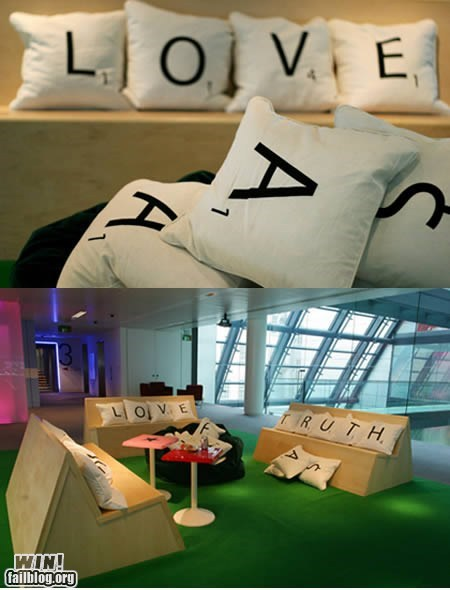 Scrabble Pillows WIN