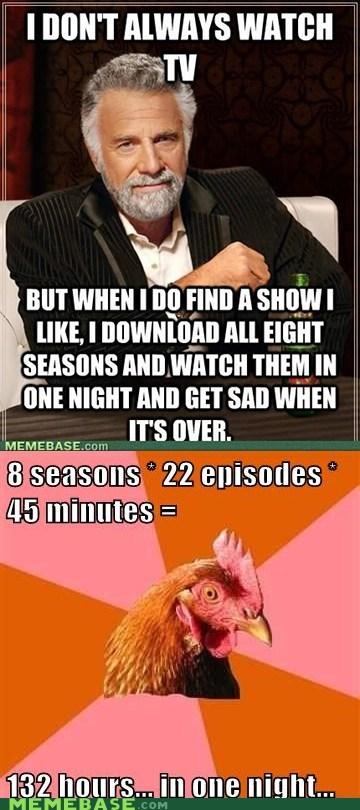 anti joke chicken,day,hours,marathon,television