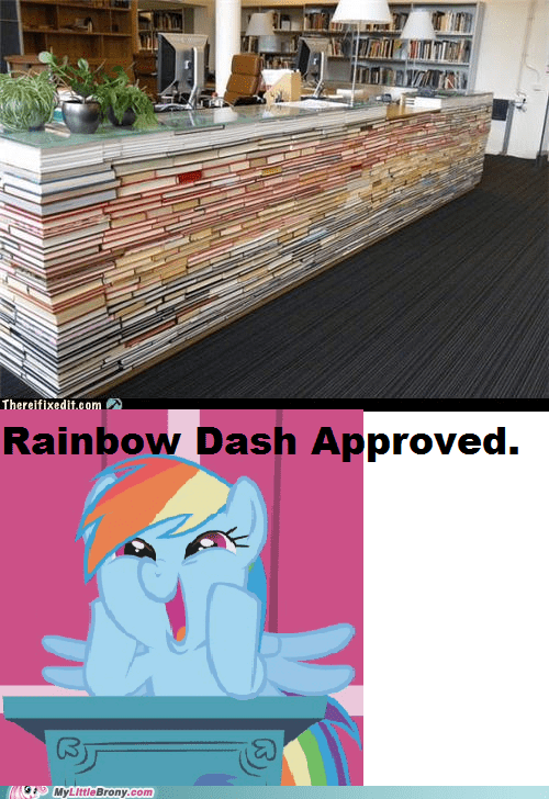 Rainbow Dash Approves of Your Books