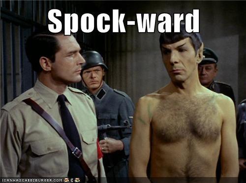 Awkward,Leonard Nimoy,nazis,shirtless,Spock