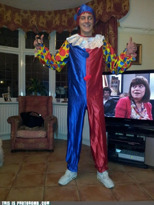 clown,costume,outfit,tv bomb