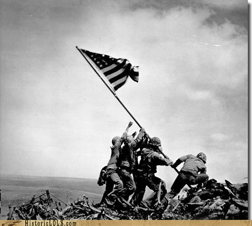 This Day in History: Marines Raise Flag on Mt. Suribachi
