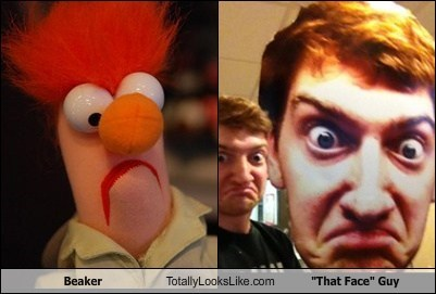 "Beaker Totally Looks Like ""That Face"" Guy"