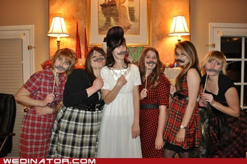 Plaid 'Stache Nuptials