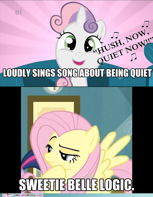 Sweetie Belle Logic.