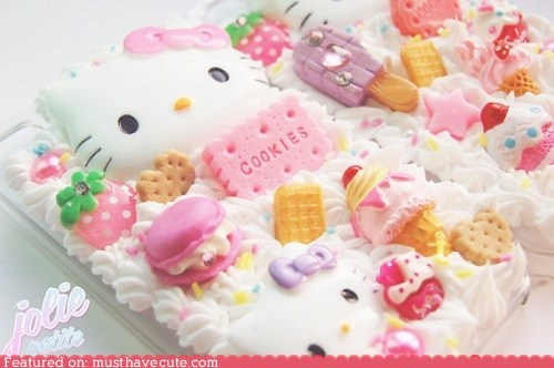hello kitty,iphone,phone case,sweets