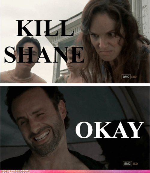 amc,Andrew Lincoln,funny,sarah wayne callies,The Walking Dead,TV
