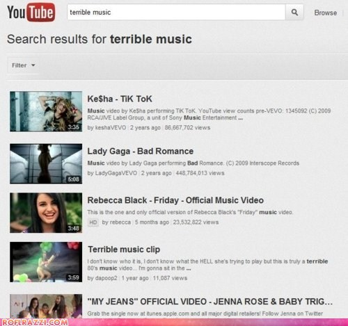 "Search Results For ""Terrible Music"""