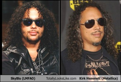 SkyBlu (LMFAO) Totally Looks Like Kirk Hemmett (Metallica)