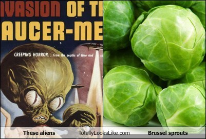 alien,brussels sprouts,food,funny,TLL