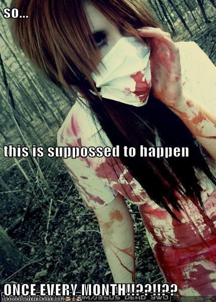 Blood,periods,weird kid