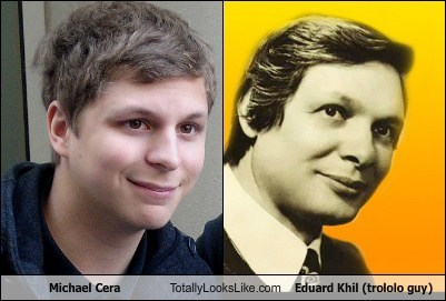 Michael Cera Totally Looks Like Eduard Khil (Trololo Guy)