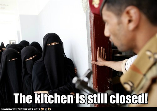 The kitchen is still closed!