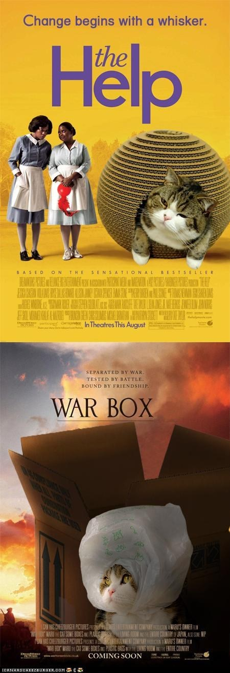 academy awards,maru,movie posters,movies,oscars,photoshopped,the help,War Horse