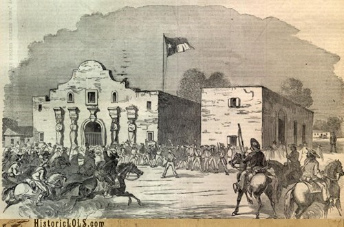 This Day in History: Alamo Defenders Call for Help