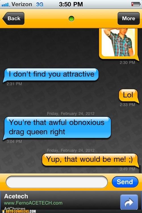 attractive,drag queen,flirting,homosexual
