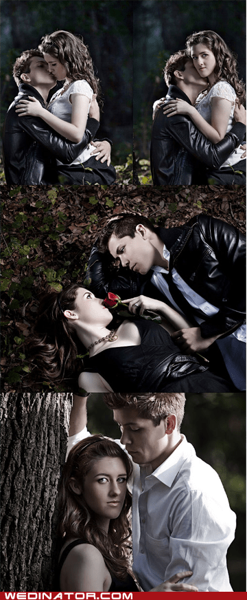 engagement photos,funny wedding photos,geek,twilight,vampires