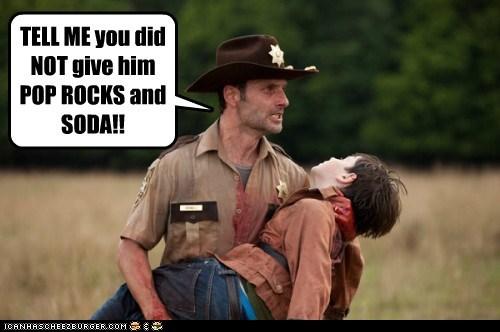 Andrew Lincoln,pop rocks,Rick Grimes,soda,The Walking Dead