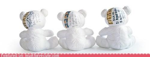 bear,fabric,mail,paper,teddy bear,write