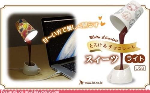 chocolate,cool,illusion,lamp,light,USB