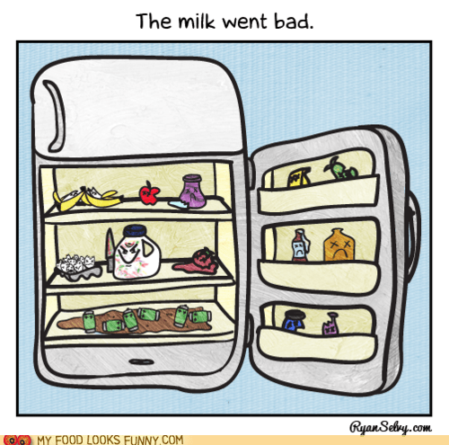bad,fridge,kill,knife,milk