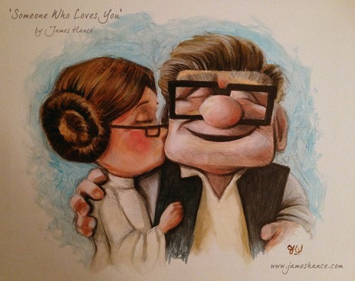 Star Wars Meets Pixar's Up of the Day