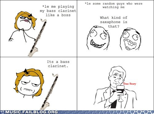 band,bass clarinet,comic,rage comic,saxophone