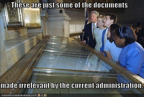 These are just some of the documents  made irrelevant by the current administration.