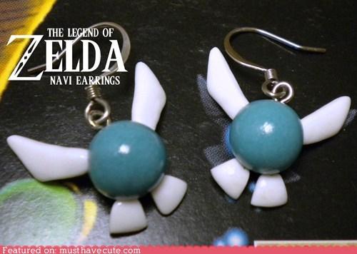 accessories,best of the week,earrings,fairy,Jewelry,legend of zelda,navi