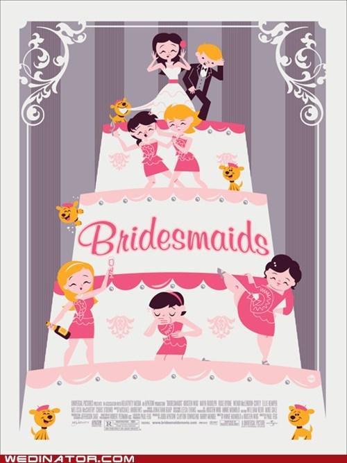 bridesmaids,cinema,funny wedding photos,movies,poster